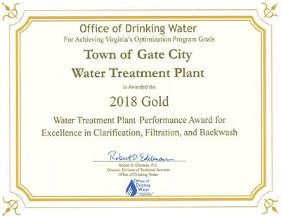 Gold Award 2016 - Water Treatment Plan